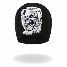 Bad Scratch Design Flaming Winged Skull Headwrap Biker Du-Rag Cap #1062