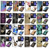 Design Book Handy Tasche Hülle Cover Schutz Case Auswahl 5 für LG Xpower 3