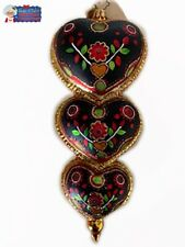 Christopher Radko Ornament  Slavic Hearts 1014301 6.5' Tall