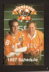 Tennessee Volunteers--Manning--Fulmer--2009 Football Schedule--Wendy's