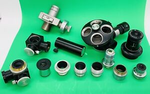 Lot Of Spencer American Optical Gaertner Microscope Parts Objectives