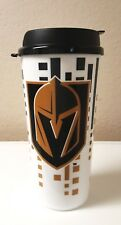 LOT OF 2 VEGAS GOLDEN KNIGHTS NHL 32 OZ PLASTIC TRAVEL TUMBLER MUG CUP WITH LID
