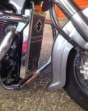 Suzuki VL 800 Vl800 Volusia - Skull - Stainless Steel Radiator Cover Grill Guard