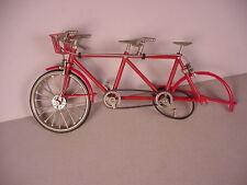 Vintage Tandem Bicycle Bike Toy cast metal & plastic , incomplete