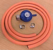 Butane Screw-In Regulator (4.5kg) + 2m Gas Hose + Clips - Calor 4.5kg Bottle Reg