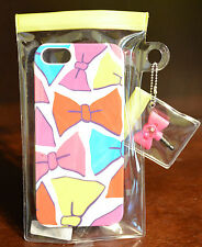 NEW BATH BODY WORKS IPHONE 5 CASE CUTE BOW PINK HARD JEWEL PLUG PLASTIC RIGID
