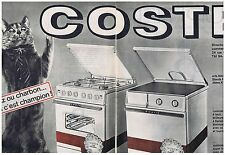 PUBLICITE ADVERTISING 044 1964 COSTE gazinière gaz  cuisinière charbon (2 pages)