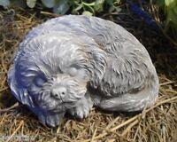 dog latex mold w plastic backup plaster concrete casting mould