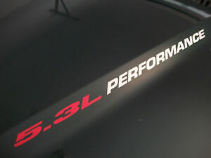 5.3L PERFORMANCE Hood decal Chevy Z71 Avalanche Silverado GMC Sierra 1500