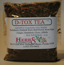 Herbs by Merlin D-TOX TEA- (Detox and Cleanse the body gently)  Organic Tea 3 oz