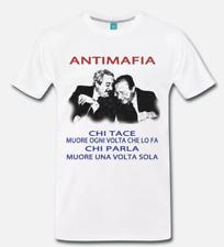 T-SHIRT MAGLIA GIOVANNI FALCONE PAOLO BORSELLINO ANTIMAFIA - EROI 1 -  S-M-L-XL