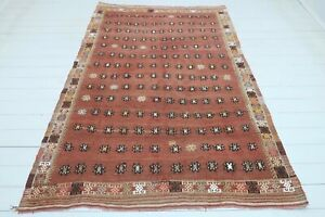 """Vintage Turkish Kilim Rug, Area Rugs, Livingroom Kelim, Carpet Large Rug 59""""x88"""""""