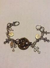 Religious Charm Bracelet 9 Religious Medals Pendants #134