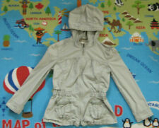 Abercrombie & Fitch girls jacket beige hooded full zip cotton Size 6-7