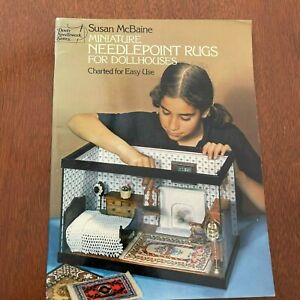 Miniature Needlepoint Rugs for Dollhouses Susan McBaine Charted Patterns 1976