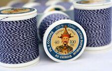 2 pack Fil Au Chinois #725 Denim Thread (2 x 100m spool, 200m total) MADE FRANCE