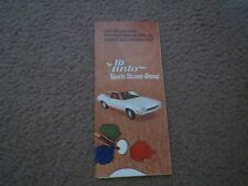 1972 FORD PINTO SPORTS ACCENT GROUP RARE ORIGINAL DEALER SALES BROCHURE