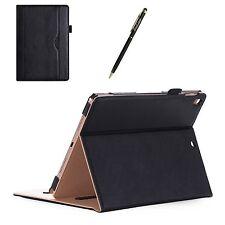 Apple iPad Pro 10.5 2017 Case Folio Card Pocket Stand Cover w/ Stylus Pen Black