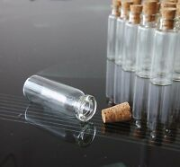 5/10/20/50 PCS 2ml Small Glass Vials With Cork Lids Tops Tiny Bottle Empty Jars