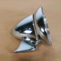 Vintage Chrome Bullet Mirror Universal Fits MG Triumph Jaguar