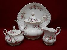ROYAL ALBERT china LAVENDER ROSE pattern 6 Piece TEA Dessert Set