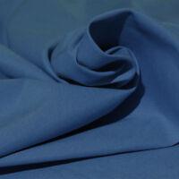 Tessuto Cotone al Metro Tinta Unita Blu h 280 cm Tappezzeria Tende SARANI