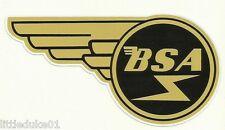 """""""BSA WING"""" VINYL DECAL / STICKER NORTON TRIUMPH MOTORCYCLE WORKSHOP ARIEL !!"""