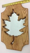 Canadian Maple Leaf Solid Oak Wall Mounted Mirror Custom Made by Toogoods of WI