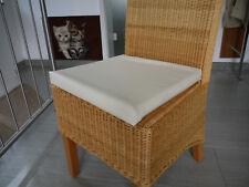 Stuhlkissen 40 x 40 x 4 cm Sitzkissen beige, Kunstleder