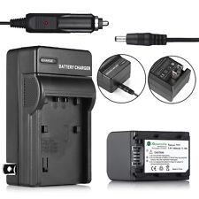 Battery + Charger For Sony HandyCam HDR-HC9 DCR-HC52 NP-FH70 DCR-SR42A DCR-SR45
