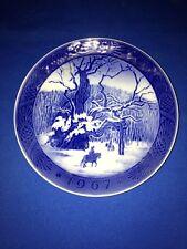 "Vintage Royal Copenhagen 7"" Plate ""The Royal Oak"" Kai Lange Kongeegen, Denmark(:"