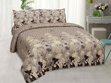 """Screen Printed Double Size Bedsheet with 2 Pillow Cover 210 TC - 100X108"""""""