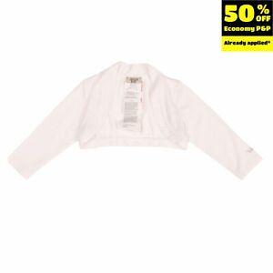 RRP €165 ARMANI BABY Jersey Bolero Size 12M / 74CM Rhinestones Logo Long Sleeve