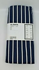 "IKEA GLANTA Tablecloth Stripes Dining Textile Cotton 145 x 240 cm 57 x 94 "" New"