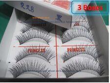 3 Box-New Original PRINCESS LEE Handmade False Fake Eyelash- X8 Black (10 Pairs)