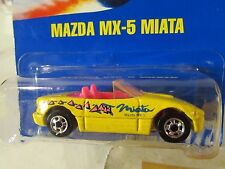 Hot Wheels Mazda MX-5 Miata #172 All Blue Card w/chrome wheels