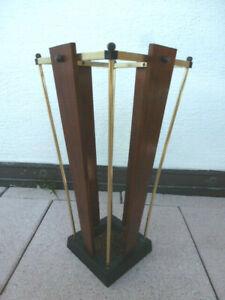 Schirmständer Holz Messing vintage 1970er Design Style Einrichtung Siebziger
