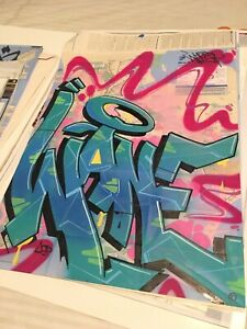 WANE COD Graffiti Painting New York Subway Map Nyc Street Art Print Stash Futura