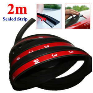 2M Car SUV Roof Trunk Seal Strip Self-adhesive Rubber Dustproof Panel Seal Strip