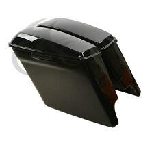 "5"" Black Stretched Extended Saddlebags For Harley Electra Glide Road King 14-18"