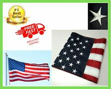 New listing Us American Flag Stripes Grommets Nylon Heavy Duty Embroidered Stars Sewn 3x5 ft