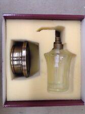 Baldwin Peyton 3651.050.D Vanity Soap Dispenser, Satin Brass & Black