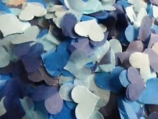 Blue Ombre Tissue Throwing Hearts Wedding Confetti Biodegradable FILL 8 CONES