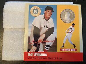 1990 Original Ted Williams HOF Boston Red Sox Legends Baseball Silver Coin Card