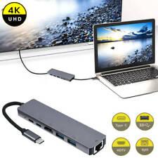 Type C USB C Hub 4K Adapter Dongle USB 3.0 Port for MacBook Pro Nintendo Switch