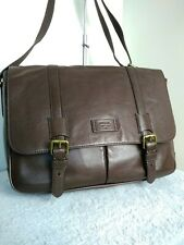 Fossil 1954 Hide Leather Brown Espresso Large Shoulder Cross Body Hand Bag N45