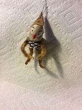 OLD PINECONE & CHENILLE ELF CHRISTMAS ORNAMENT