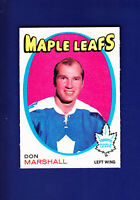 Don Marshall 1971-72 O-PEE-CHEE OPC Hockey #199 (NM) Toronto Maple Leafs