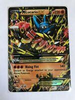 MEGA Lucario EX ULTRA RARE 55/111 Pokemon TCG XY Furious Fists NM Holo Regular