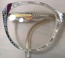 Made In Italy~ Genny by GI e GI ~Iridescent Jeweled Rx Eyeglasses~Frames~Eyewear